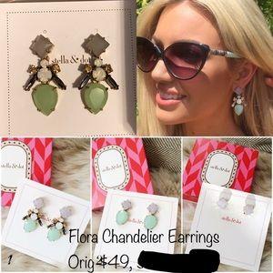 Stella & Dot Flora Chandelier Earrings